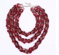 red thick fashion plastic chain necklace