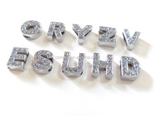 10MM Good Looking Pink stone zinc alloy DIY letters