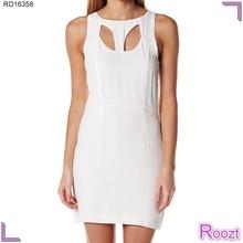 Últimos vestidos de moda vestido blanco de verano barato atractivo del club