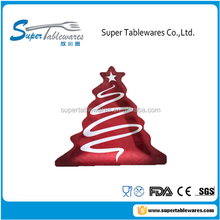 High Quality Chirstmas Tree Plate With Tree Pattern