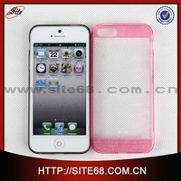 Colorful Soft TPU with glitter case accessories cellular for Iphone 5