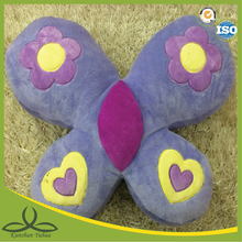 girl love purple butterfly shape cushion