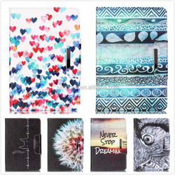 metal buckle love heart Tribe painting Wallet Leather case For Apple iPad 5 5th air