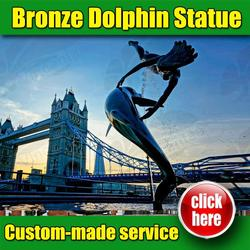 Hot selling Dolphin Sculptures Garden with Low Price