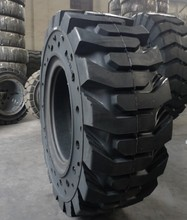 High quality Solid skid steer loader tires with hole on sidewall 10-16.5 12-16.5