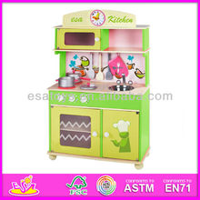 2015 Hot sale top quality kitchen toy set,new and popular kids kitchen toy set, cute design wooden kitchen toy set W10C034