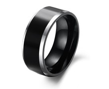 Fashion popular black tungsten ring men ring directly from Rings factory