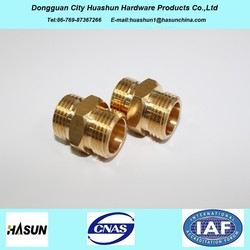 ISO 9001 brass hose nipple with double male thread