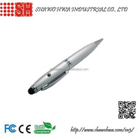Custom LOGO 4in1 Multifunction Pen (Laser Pointer/Rechargeable/Digital Touch Stylus/writing)