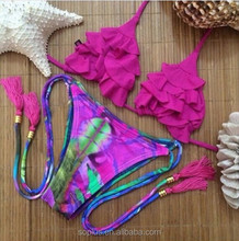 SSW-150520 Brazilian Bikini Sexy Bandage Push Up Bandeau Biquini Swimwear Women 2015 Swimsuit Bathing Suit Beachwear