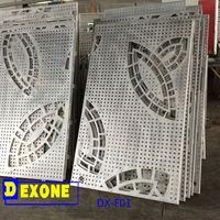 CNC curtain wall panels &Metal laser cut carve panels as decoration