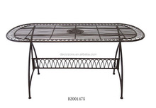 Outdoor Metal Oval Dining Table Designs