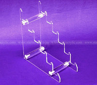 Six Tiers Clear Knife Display, Acrylic Riser for Knife, 6 slot Lucite Knife Display Holder