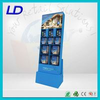 8 years factory magnetic floating acrylic floor display ,magnetic floating acrylic cosmetic floor display