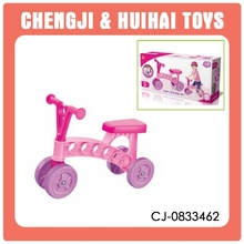 Girl style pink plastic ride on car baby walker car shape