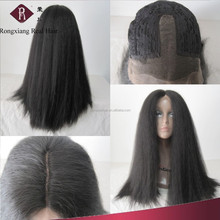 Professional Heat Resistant Hair Synthetic kinky straight lace front wig