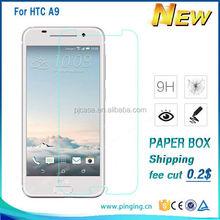 wholesale 0.9H 0.33mm/0.4m premium tempered glass screen protector for HTC A9,for HTC A9 tempered glass film