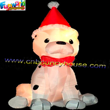 Inflatable Christmas Decoration Dog With LED Light