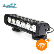 "HOT SALE!11"" 60W High Power 10W Each Cree Offroad LED beam Waterproof LED Boat Lamp SM6012-60"