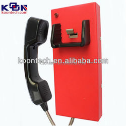 High quality no keypad Autodial telephone / water proof phone for service KNZD-14