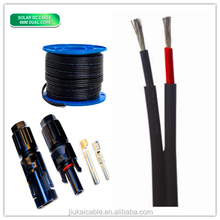 TUV/PV1-F/2pfg 1169/08.07 Approved 2x6mm solar pv cable mc4 connector for solar panel High quality for au. --LD