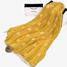 2015 new multi-purpose silk scarves small broken flower scarf women wholesale autumn winter air conditioning shawl fabric beach
