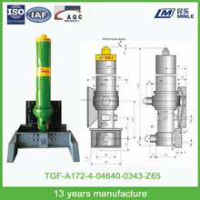 front pushed telescopic hydraulic cylinder for dump truck,hydraulic cylinder for sale