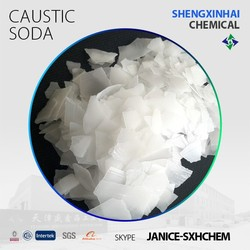 Manufacturer caustic soda flakes 99% NAOH sodium hydroxide raw material for water treatment/textile/soap making