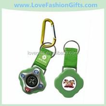 Outdoor Survival Compass Carabiner Compass Key Tag Zinc Alloy Copass