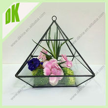 2015 wholesale glass decorative handing terrarium / clear glass globe hanging vase plant terrarium artistic glass vases