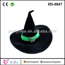 verde de terciopelo negro sombrero de bruja de halloween vestido de lujo