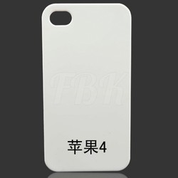 OEM blank phone cases/3D Sublimation Blank Cover for Iphone 4/4S