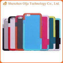 Design tpu + PC combo cell phone cover for iPhone 6 plus