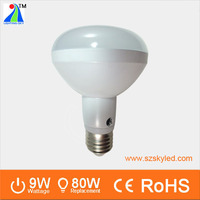 high quality r80 halogen lamps e27 led reflector 9w spot