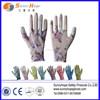 13 gauge nylon palm coated flower printing gardening glove
