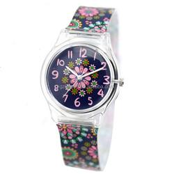 Factory Price Custom Women Fashion Girls Geneva PVC Sport Silicone Watch Strap