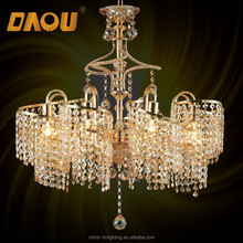 wholesale 8 E14 cristal lights chinese spiral waterfall crystal chandelier light