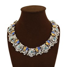 Wholesale Costume Jewelry Mix Crystal Rhinestones Big Bib Collar Neckalce