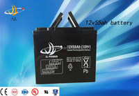 OEM high capacity 12v solar battery 12v 55ah storage solar battery vrla battery with good quality