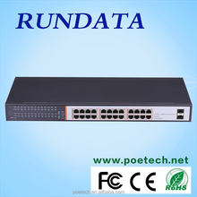 Made in China 24 port full Gigabit black metal NETWORKING SWITCH