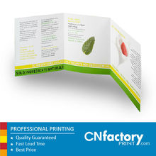 A4 tri-fold brochures flyers leaflets printing matte uncoated recycled paper foldaway brochures