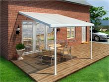 aluminum frame PC panel sun rooms plastic outdoor patio cover