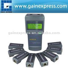 N03NF-8108M La red de cable 5e, 6e, coaxial cable probador de longitud w/8identificador a distancia