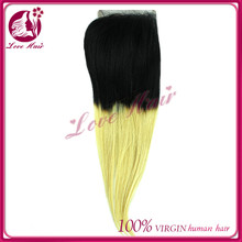 Beauty products virgin brazilian straight lace closure remy 40-50g for one lace closure black abd blonde hair dye color