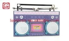 zinc alloy Retro purple Radio Design Desk Clock