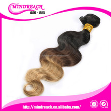 Superior Quality Wholesale Two Tone Ombre Colored Hair Weave Bundles