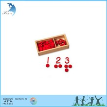 educational games Mathematics wooden intellectual toy natural montessori materials Cut-out Numerals 1 - 10 and 55 Wooden Co