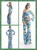 Adult drop ship carnival styles junhou Go Go Girl Disco Costume Ladies 60s 70s Retro Hippie costume