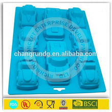 car/ bicycle/bus silicone chocolate silicone molds for chocolate