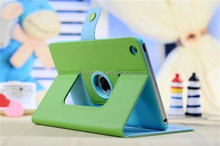 Green Rotating leather case for ipad mini, for ipad mini 2 leather case, smart leather case for ipad mini HH-IPM05(9)